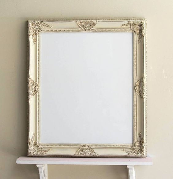 Decorative DRY ERASE BOARD... Inherently, dry erase boards are not  attractive... no more! A beautiful vintage inspired frame turned