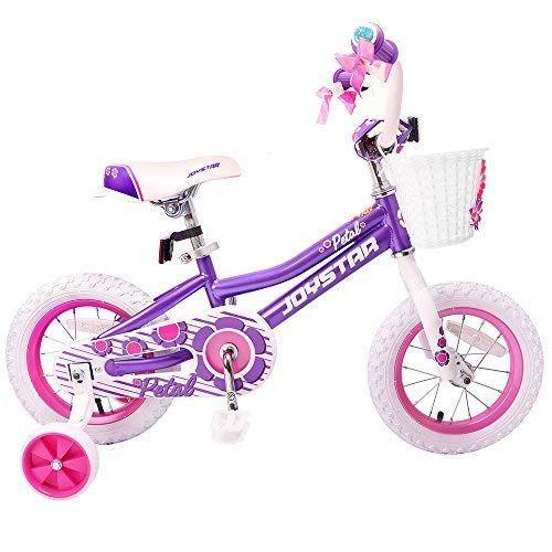 Amazon Com Joystar Girls Bike With Basket Training Wheels For 14 16 Inch Bike Kickstand For 18 Inch Bik Kids Bicycle Kids Bike Bike With Training Wheels