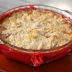 Peach Crème Fraîche Crumble: Just as good without the crust!