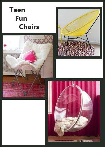 Ideas for teen bedroom furniture some of these chairs look really cool and  would be fun. 50 Cool Teenage Girl Bedroom Ideas of Design   Awesome  Teenager
