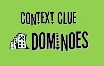 FREE Context Clue Dominoes: Manipulatives for collaborative classroom activity