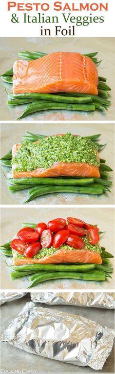 salmon empapelado: