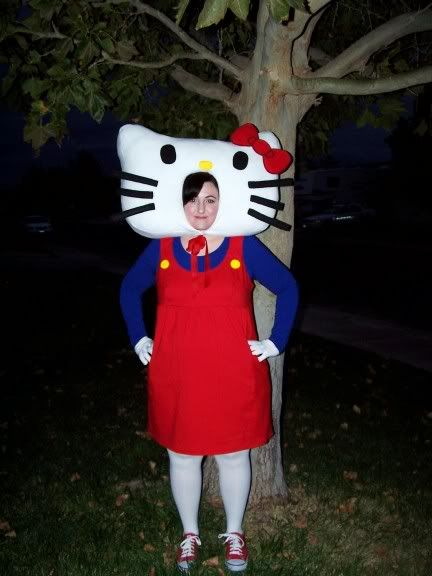 This is my costume for school....minus the huge head :)