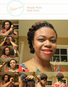 Simple Style: Halo Twist   Natural Hair Updo and Protective Style
