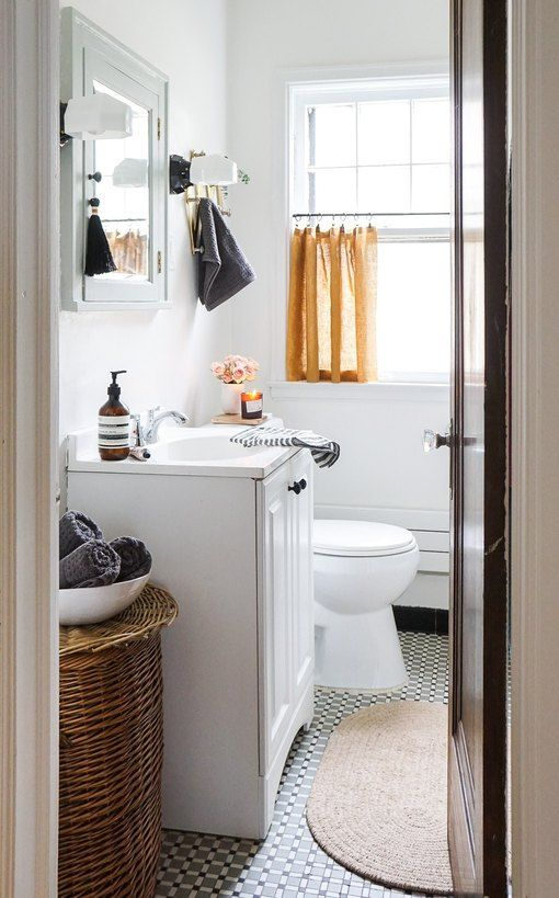 Have A Unique Window In Your Loo Here Are 9 Bathroom Curtain Ideas To Save The Day Hunker In 2020 Bathroom Refresh Bathroom Curtains Bathroom Window Curtains