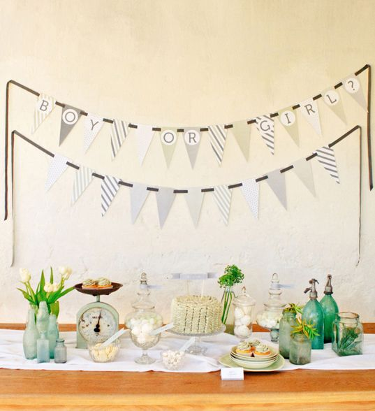 Boy or Girl gender reveal baby shower... so doing this with our number 2 baby one day!! Love it :) Thanks Pretty Blog xoxo