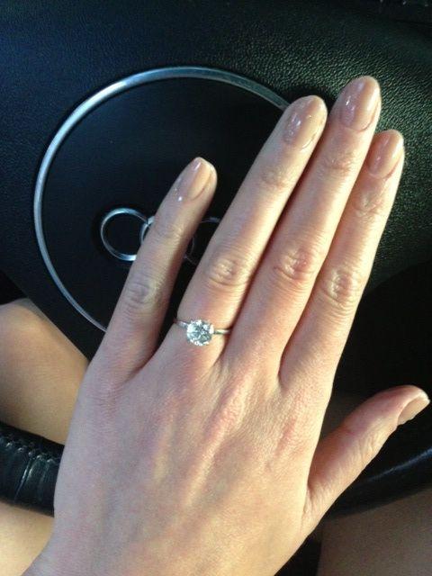 Simple Engagement and Brilliant diamond on Pinterest