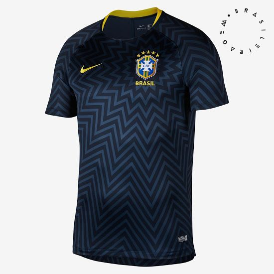 Stunning Nike Brazil 2018 World Cup Pre Match Jersey Released Footy Headlines Sports Uniform Design Football Tops Training Tops
