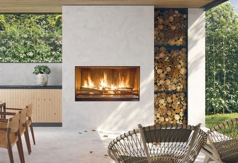Escea Ek Series Outdoor Wood Burning Fireplace Outdoor Wood