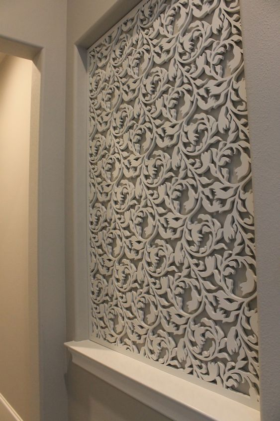 Laser Cut Wood Accent Walls And Lattices On Pinterest