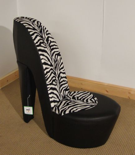 details about funky stiletto high heel chair animal