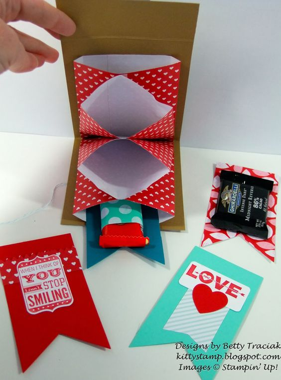 Kitty Stamp: Sweetheart Treat Accordion Folder Tutorial