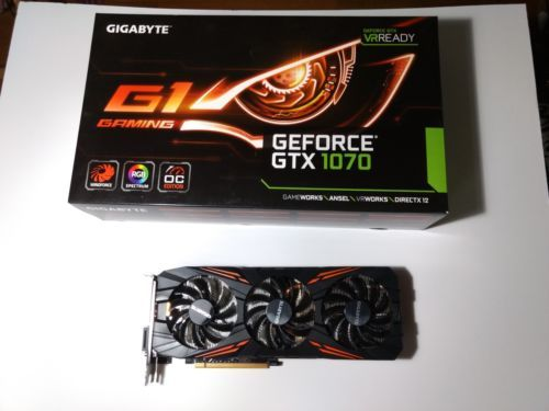 Nvidia Geforce Gtx 1070 Gigabyte Gaming G1 8g Video Card W Box Great Condition Graphic Card Gigabyte Computer Hardware