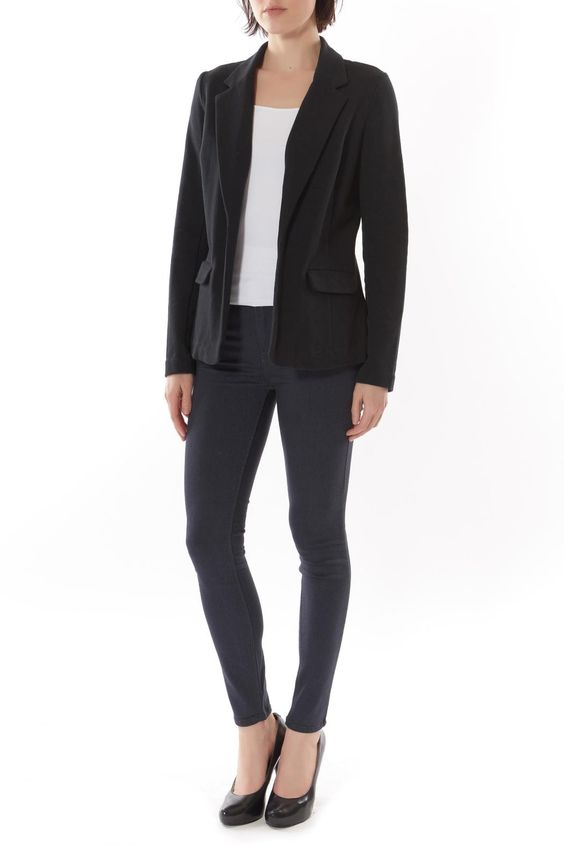 Basic black blazer with two front pockets and full length sleeves.  Joie Blazer by Soft by Joie. Clothing - Jackets Coats & Blazers - Jackets - Blazers Manhattan New York City