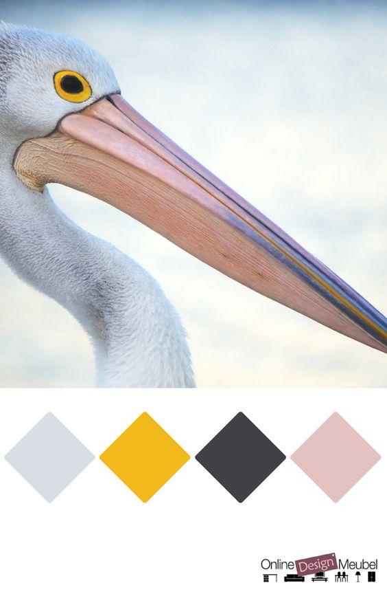 kleurenpalet met geel, roze en grijs   kleurenschema   kleurinspiratie   color schema