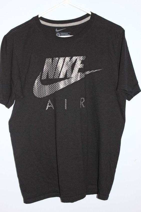 MEN'S NIKE AIR BLACK GRAPHIC SHORT SLEEVE TEE T SHIRT SZ L TOP SHIRT MENS Large #Nike #GraphicTee