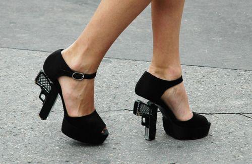 Gun heeled shoes!