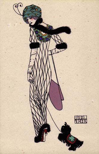 764. Fritz Beger - Wiener Werkstatte postcard