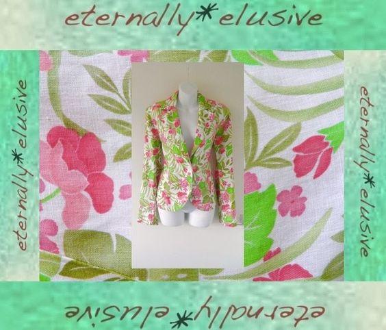 AUGUST SILK Pink Green Summer Flower Printed Fitted Blazer Jacket Coat Ladies 12   00.99