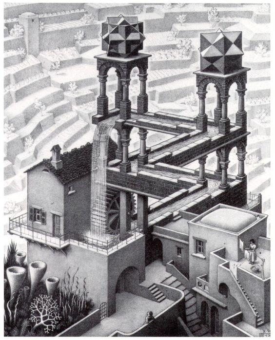 M.C. Escher (1898-1972), Infinite loop