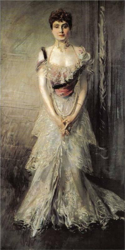 Giovanni Boldini (Italian 1842–1931) [Portraiture] Portrait of Maria Eulalia of Spain, 1898.
