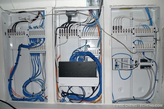 ddc18767247631ffcf5c090f9ccf6f31 home network wiring home automation centrally located home network wiring closet allows network  at virtualis.co