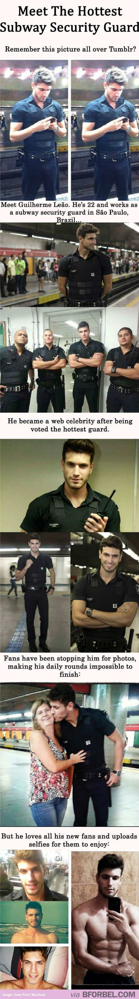 The Hottest Security Guard In The World. So.... I'm moving to Brazil. --- ugh just go into modeling, sir...sir. im done.