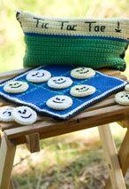 Crocheted Tic Tac Toe Game Set