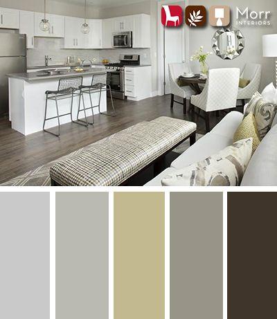 Morr Interiors Design Palette  #interiordesign #design #livingroom #mustard #grey