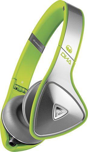 Monster - DNA On-Ear Headphones - Neon Green/Silver