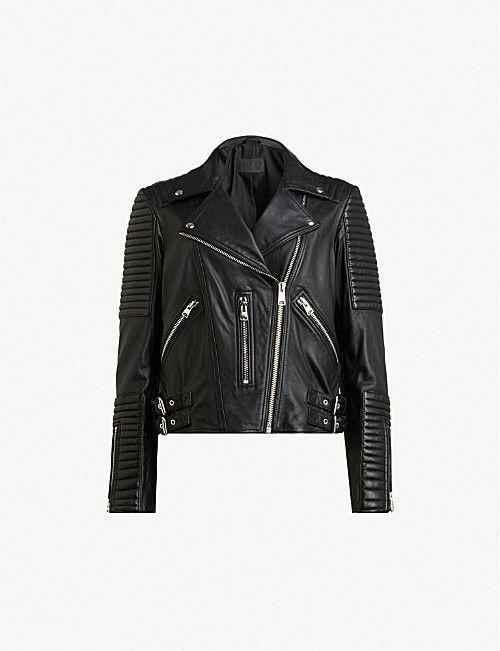 ALLSAINTS Estella leather biker jacket   LEATHER in 2019