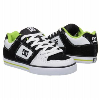 DC Shoes Pure Shoes (Black/White/Lime) - Men's Shoes - 8.0 M