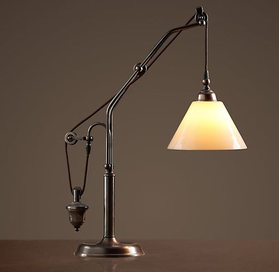 Restoration Hardware Replacement Light Bulbs: Counterweight Task Table Lamp $449