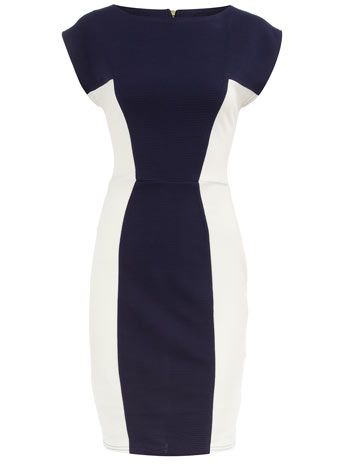 Navy panel ribbed dress - Closet - View all Clothing Brands  - Clothing So cute for a night out with friends!