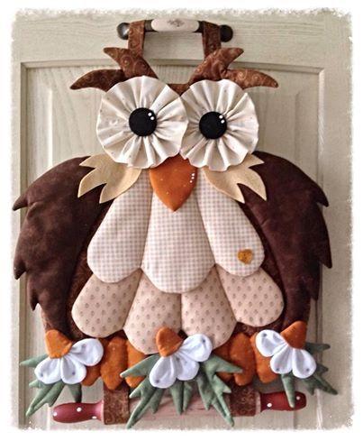 Para quem gosta de costurar... Linda coruja!!!