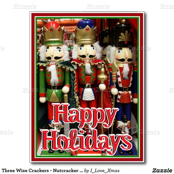 Three Wise Crackers - #Nutcracker #Christmas Soldiers Postcard by #I_Love_Xmas #zazzle -  #Gravityx9