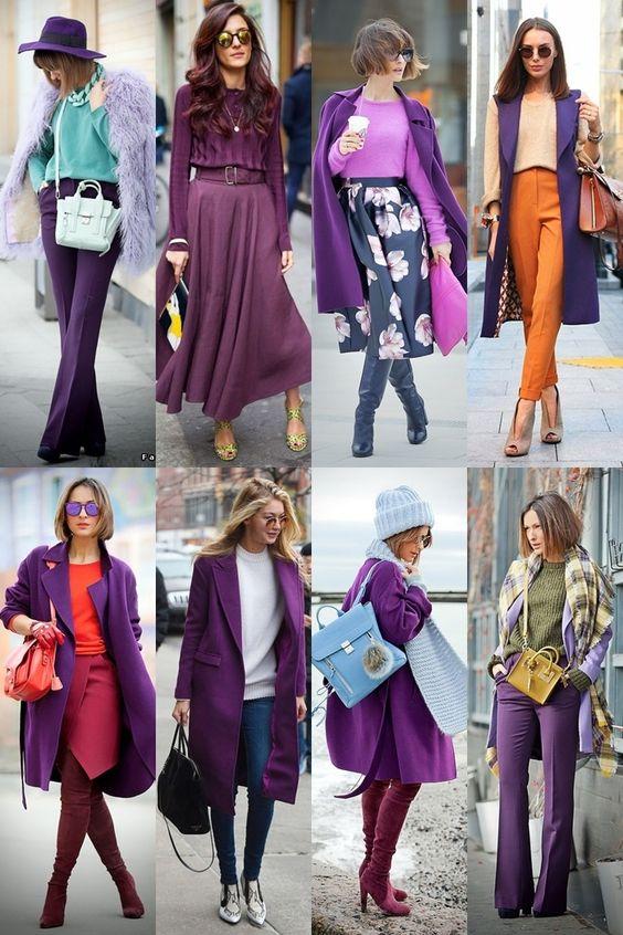 ultra violet inspirações de looks