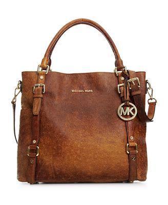MICHAEL Michael Kors Handbag, Bedford Ostrich Tote......... Get in my closet !!!: