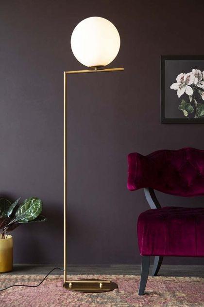Art Deco White Sphere Floor Lamp Art Deco Floor Lamp Contemporary Floor Lamps Sphere Floor Lamp