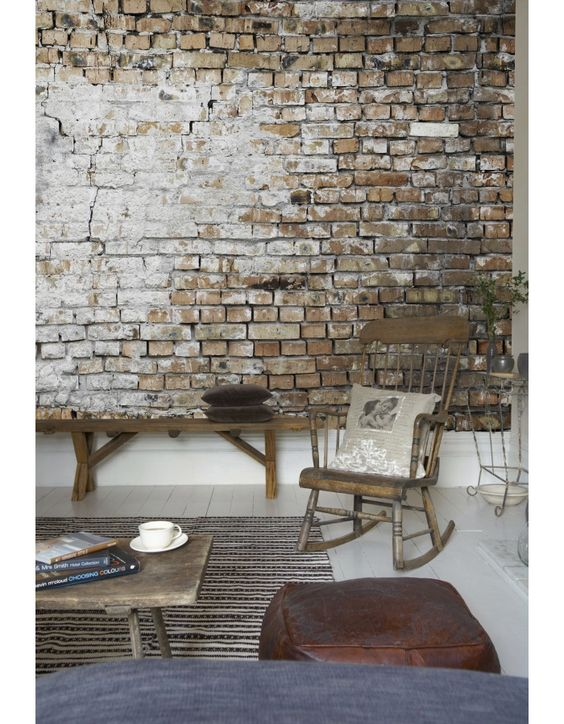 Photowall brickwall wallpaper what do you think for the for Exposed brick wall mural