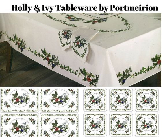 Holly and Ivy Holiday Table Linens by Portmeirion