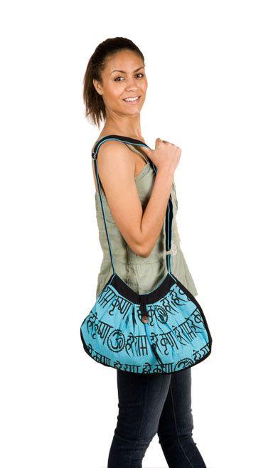 Aquamarine Nepali Cotton Bag