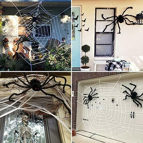 Ludilo 3pcs Halloween Spider Web Halloween Spider Decorations 142 Mega Spider W Ad Aff Halloween Spider Ludilo Spider Decorations