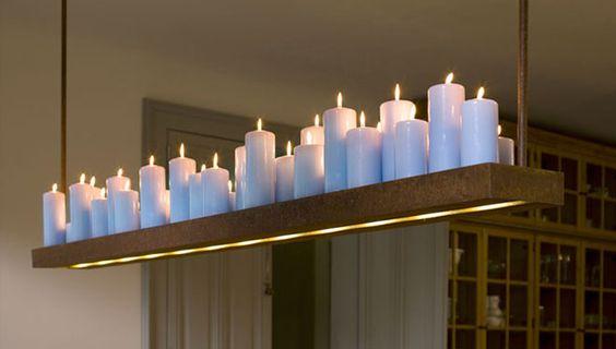 """""""Hängelampe mit Kerzen"""" von  http://www.van-afferden.com/interior-design/lampen/"""