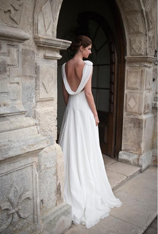 wedding hair styled 23 cowl back wedding dresses a hip trend for glamorous style 8283
