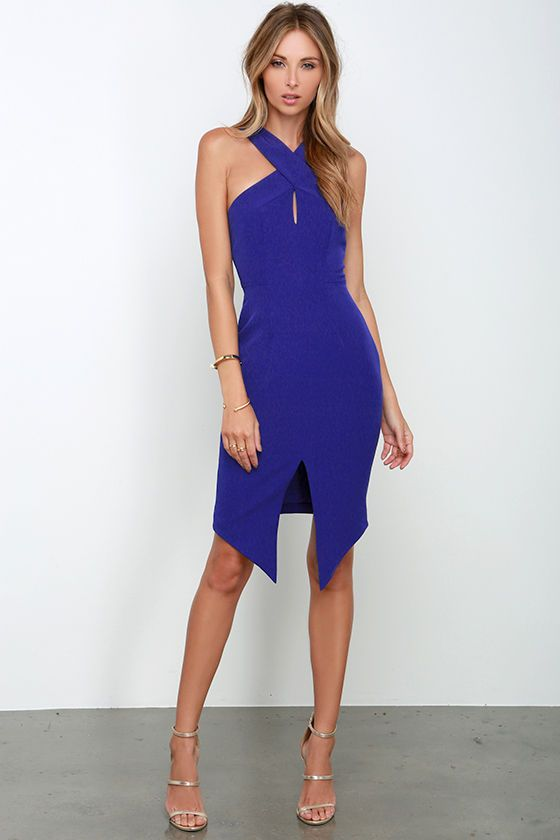 Keepsake Tainted Romance Cobalt Blue Dress | Neckline, Blue and ...
