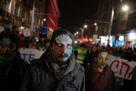 BULGARIA:  Bulgarians rally against ski area expansion in national park - January 11, 2018:  SOFIA (Reuters) - Thousands of environmentalists protested in downtown Sofia on Thursday against a government decision to allow further construction of ski runs and lifts in Bulgaria's mountainous Pirin National Park.