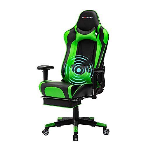 Eavancel Chaise Gaming Bureau Racing Fauteuil Inclinable Grande Etagere Ergonomique De Massage En Similicuir Dossier Haut Cous Gaming Chair Chair Rolling Chair