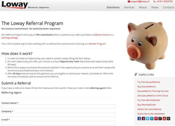 Loway Switzerland Referral Reward Program announced for Asterisk solutions and training  https://www.loway.ch/referral-program.jsp