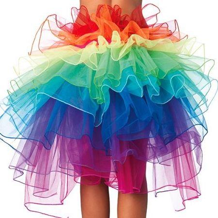 Leg Avenue Rainbow Organza Bustle